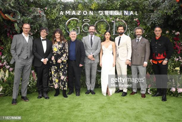 Mark Gatiss, Neil Gaiman, Josie Lawrence, Douglas Mackinnon, Jon Hamm, Adria Arjona, David Tennant, Michael Sheen and Rob Wilkins attend the Global...