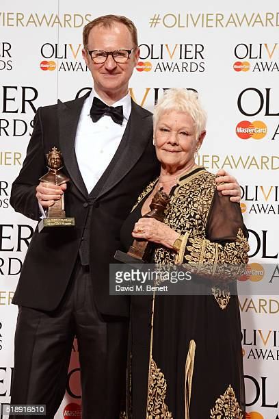 Mark Gatiss winner of the Best Actor In A Supporting Role award for Three Days In The Country and Dame Judi Dench winner of the Best Actress In A...