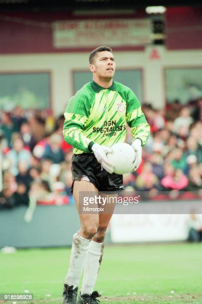 Mark Gayle Walsall Goalkeeper in action v Crewe Alexander 16th May 1993 Division Three Playoff Semi Final 1st leg