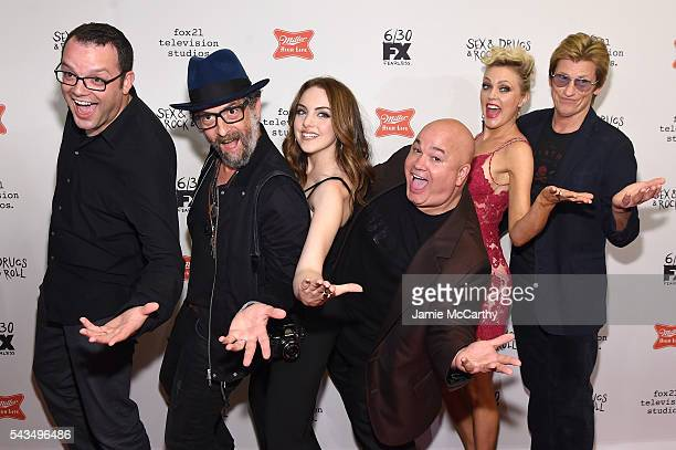 Mark Gessner John Ales Elizabeth Gillies Robert Kelly Elaine Hendrix and Denis Leary attend the 'SexDrugsRockRoll' Season 2 Premiere at AMC Loews...