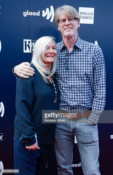 Mark Getty and Ariadne Getty arrive at the GLAAD Gala at Metreon on September 8 2016 in San Francisco California