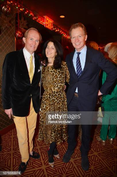 Mark Gilbertson Amanda Bacon and Zack Bacon attend George Farias Anne Jay McInerney Host A Holiday Party at The Doubles Club on December 13 2018 in...