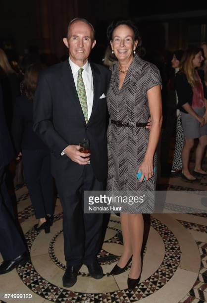 Mark Gilbertson and Andrea Fahnestock attend The ASPCA 2017 Humane Awards Luncheon at Cipriani 42nd Street on November 16 2017 in New York City