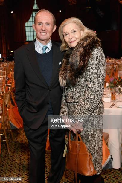 Mark Gilbertson and Barbara Cates attend the ASPCA Hosts 2018 Humane Awards Luncheon at Cipriani 42nd Street on November 15 2018 in New York City