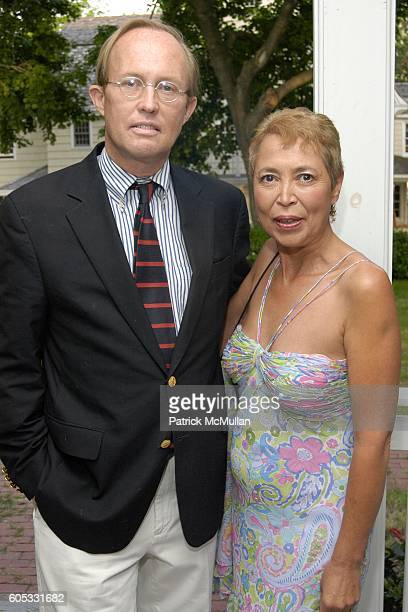 Mark Gilbertson and Wanda Murphy attend WANDA MURPHY Unveils her IN MEMORY OF YOU Collection at EZAIR GALLERY NELLO'S on May 28 2006 in Southampton...
