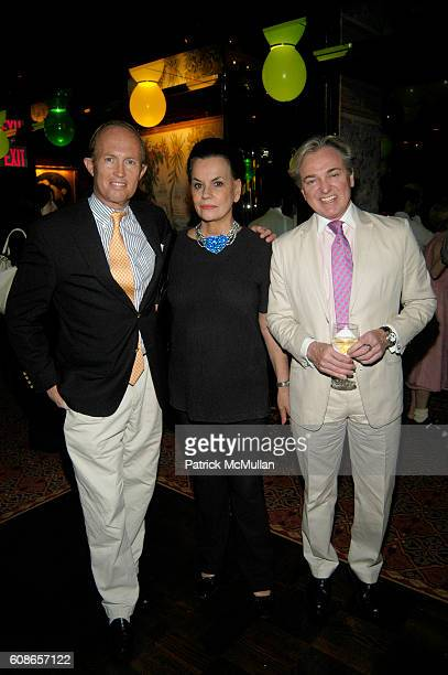 Mark Gilbertson Ann Rapp and Geoffrey Bradfield attend MICHELLE MARIE Cocktail Party at Doubles on June 21 2007 in New York City