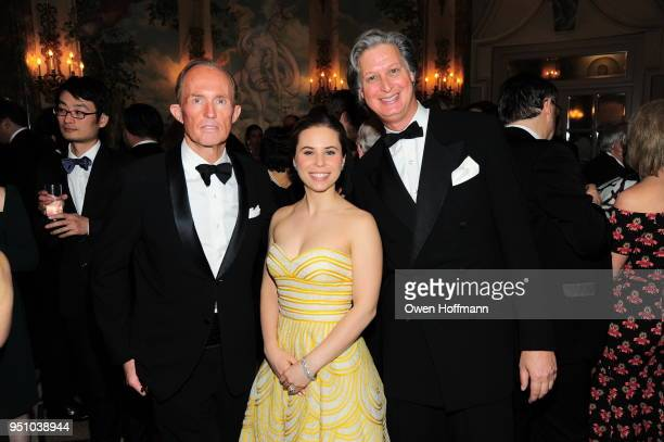 Mark Gilbertson Caroline Udelhofen and Jared Goss attends The Hort's New York Flower Show Dinner Dance at The Pierre Hotel on April 24 2018 in New...