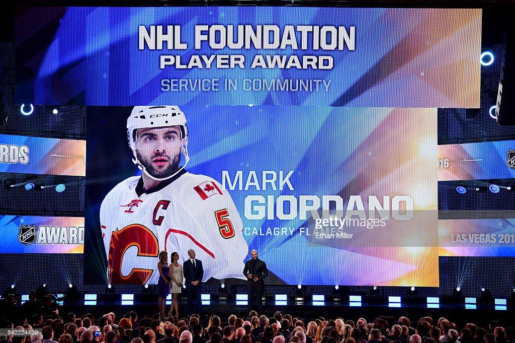 2016 NHL Awards - Show : News Photo