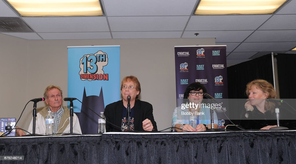 Mark Goddard, Bill Mumy, Angela Cartwright and Marta Kristen of Lost In Space attend the 2017 East Coast Comic Con at Meadowlands Exposition Center on April 30, 2017 in Secaucus, New Jersey.