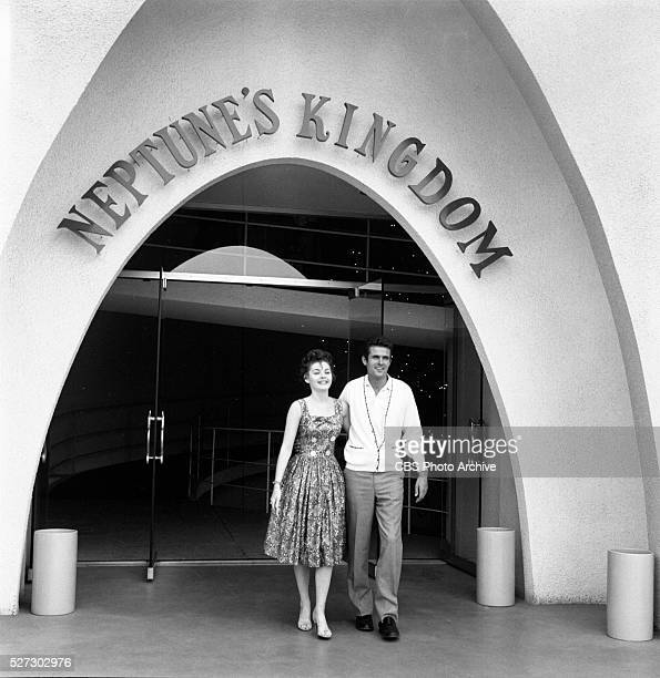RINGO Mark Goddard of the CBS western 'Johnny Ringo' and Pennie Parker of the CBS comedy series 'Make Room For Daddy' enjoy a day off July 24 at...