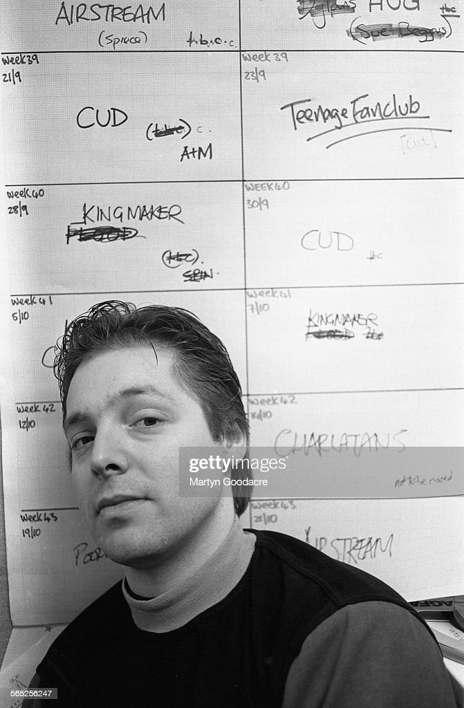 DJ Mark Goodier, portrait, Radio 1 studios, London, United Kingdom, 1992.