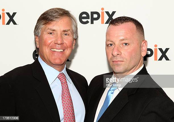 Mark Greenberg and Barry Donadio Public Security TWA 800 First Responder attend EPIX's TWA Flight 800 Screening At The NCTA on July 15 2013 in...