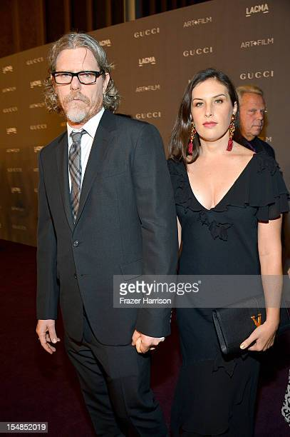 Mark Grotjahn and Jennifer Guidi arrive at LACMA 2012 Art Film Gala Honoring Ed Ruscha and Stanley Kubrick presented by Gucci at LACMA on October 27...