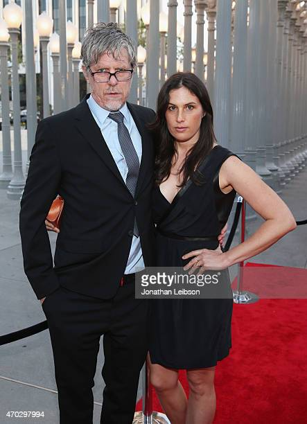 Mark Grotjahn and Jennifer Guidi attend LACMA's 50th Anniversary Gala sponsored by Christie's at LACMA on April 18 2015 in Los Angeles California
