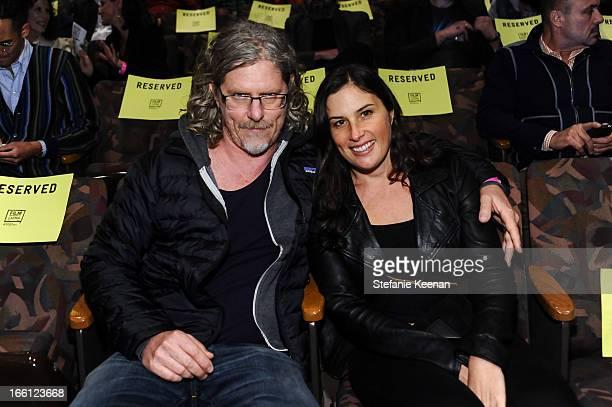 Mark Grotjahn and Jennifer Guidi attend Takashi Murakami's international film premiere of Jellyfish Eyes at LACMA on April 8 2013 in Los Angeles...
