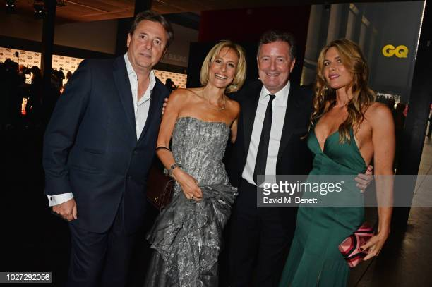 Mark Gwynne Emily Maitlis Piers Morgan and Celia Walden attend the GQ Men of the Year Awards 2018 in association with HUGO BOSS at Tate Modern on...