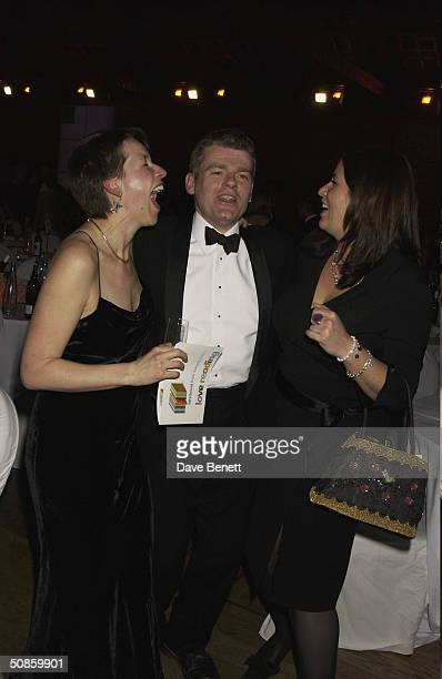 Mark Haddon and his partner and Liza Tarbuck attend the 2004 Whitbread Book Awards at The Brewery on January 28 2004 in London