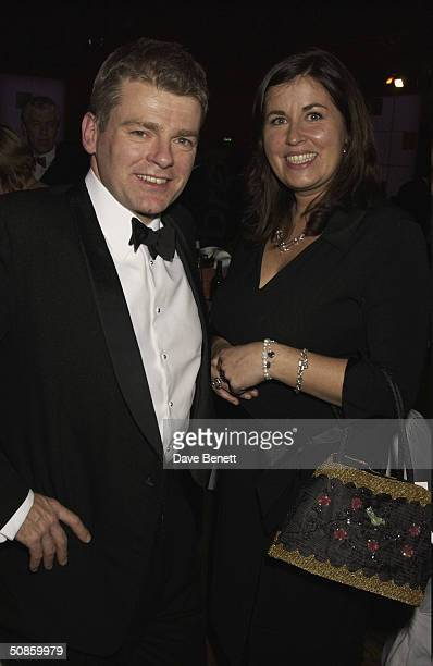 Mark Haddon and Liza Tarbuck attend the 2004 Whitbread Book Awards at The Brewery on January 28 2004 in London
