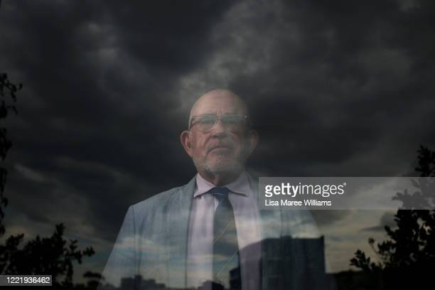 Mark Halsted a teacher of 38 years isolates at his home on April 29 2020 in Sydney Australia Mark has been isolating at his home while conducting...