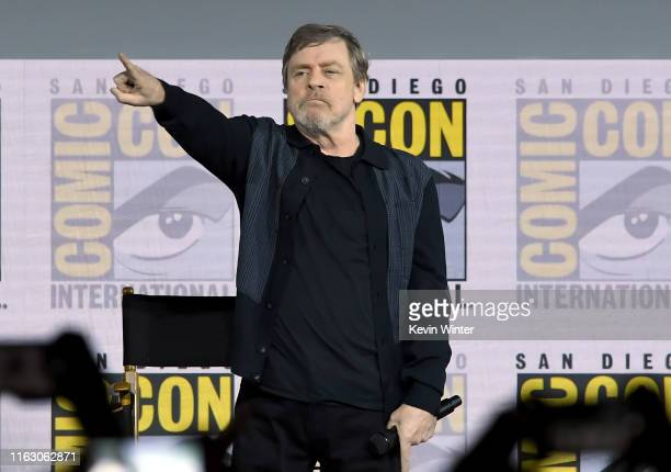 Mark Hamill accepts the Icon award during the Netflix's The Dark Crystal Age Of Resistance Panel during 2019 ComicCon International at San Diego...