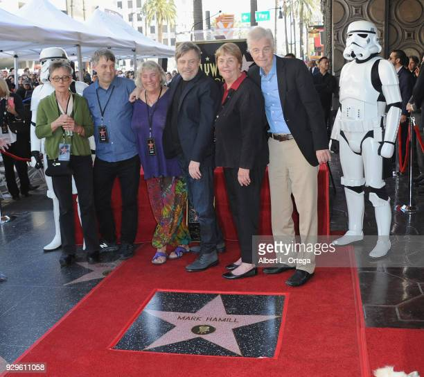 Mark Hamill and brothers and sisters participate in the Mark Hamill Star Ceremony held On The Hollywood Walk Of Fame on March 8 2018 in Hollywood...