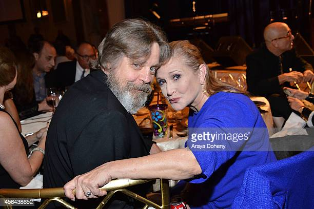 Mark Hamill and Carrie Fisher attend the Midnight Mission's 100 year anniversary Golden Heart Gala held at the Beverly Wilshire Four Seasons Hotel on...