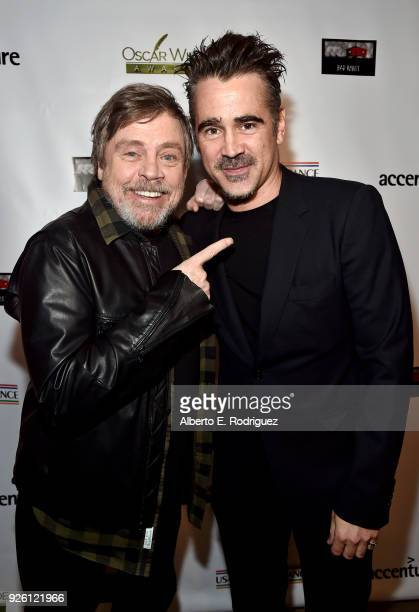 Mark Hamill and Colin Farrell attend the Oscar Wilde Awards 2018 at Bad Robot on March 1 2018 in Santa Monica California