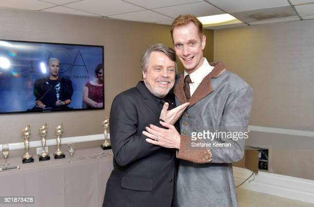 Mark Hamill and Doug Jones attend the Costume Designers Guild Awards at The Beverly Hilton Hotel on February 20 2018 in Beverly Hills California