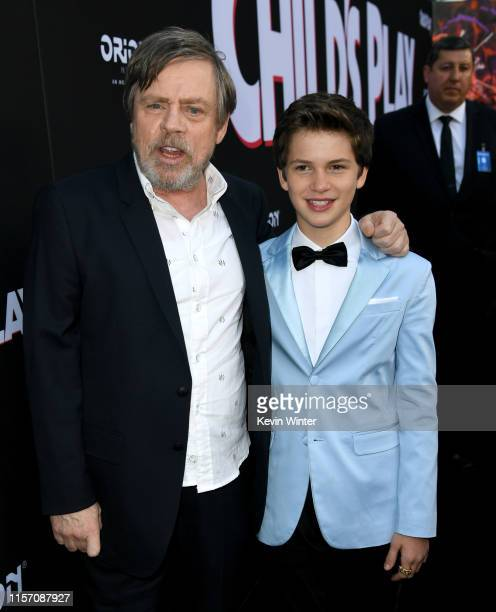 Mark Hamill and Gabriel Bateman arrive at the premiere of Orion Pictures and United Artists Releasing Child's Play at ArcLight Hollywood on June 19...