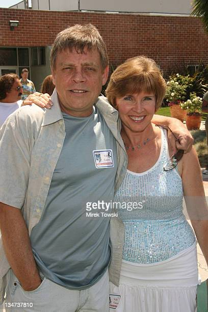 "Mark Hamill and his wife Marilou York during ""Choose Your Own Adventure: The Abominable Snowman"" DVD Premiere at Star Echo Station in Culver City,..."