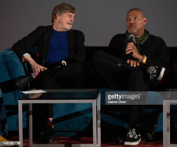 Mark Hamill and Laurence Fishburne attend Excelsior A Celebration of The Amazing Fantastic Incredible and Uncanny Life Of Stan Lee at TCL Chinese...