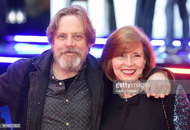 Mark Hamill and Marilou York arrive for the European film premiere of Captain America Civil War at Vue Westfield on April 26 2016 in London England