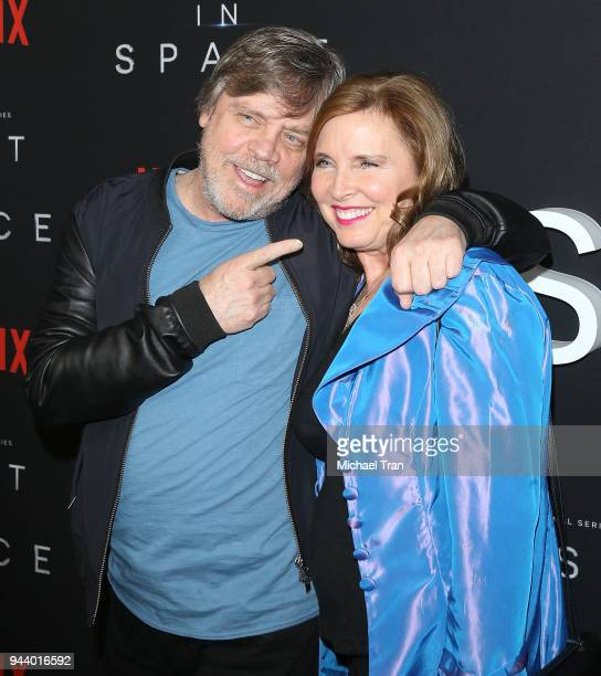 Mark Hamill and Marilou York arrive to the Los Angeles premiere of Netflix's 'Lost In Space' Season 1 held at The Cinerama Dome on April 9 2018 in...