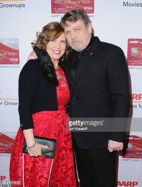 Mark Hamill and Marilou York attend AARP's 17th Annual Movies For Grownups Awards at the Beverly Wilshire Four Seasons Hotel on February 5 2018 in...