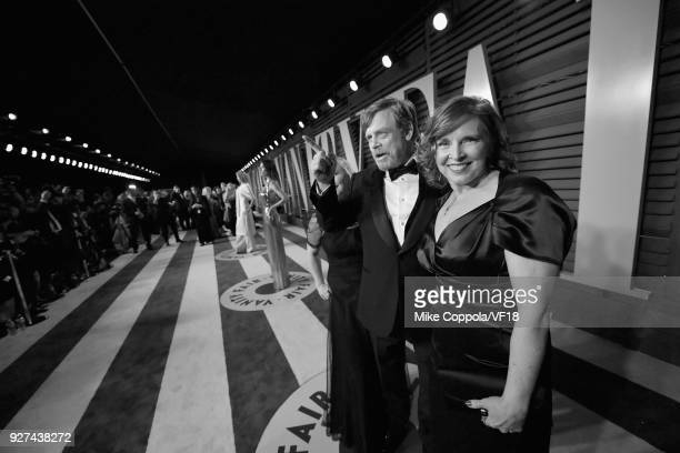 Mark Hamill and Marilou York attend the 2018 Vanity Fair Oscar Party hosted by Radhika Jones at Wallis Annenberg Center for the Performing Arts on...