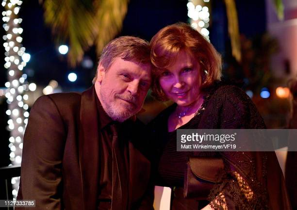 Mark Hamill and Marilou York attend the 2019 Vanity Fair Oscar Party hosted by Radhika Jones at Wallis Annenberg Center for the Performing Arts on...