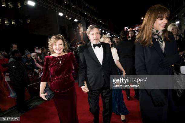 Mark Hamill and Marilou York attend the European Premiere of Star Wars The Last Jedi at the Royal Albert Hall on December 12 2017 in London England