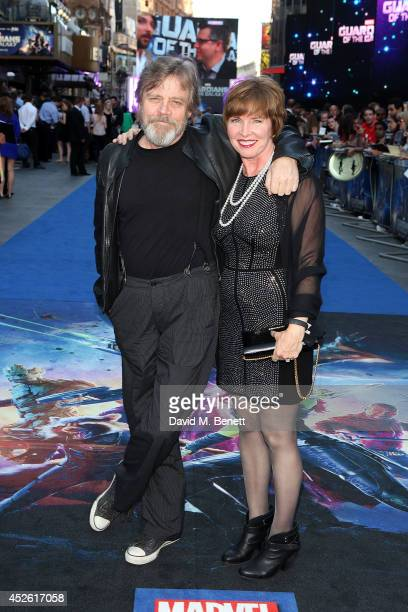 Mark Hamill and Marilou York attend the UK Premiere of 'Guardians of the Galaxy' at Empire Leicester Square on July 24 2014 in London England