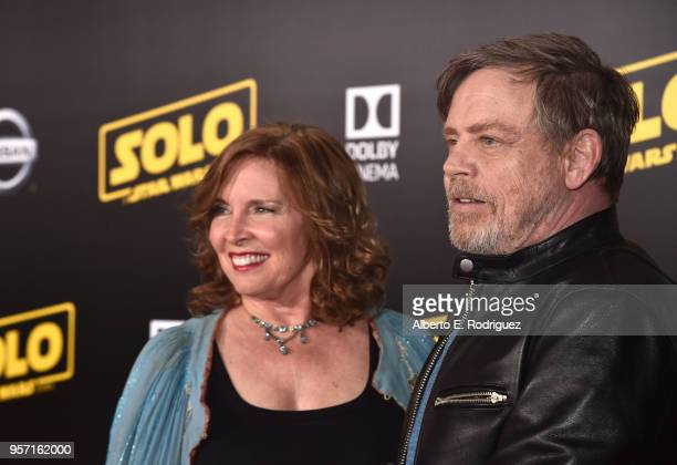 "Mark Hamill and Marilou York attend the world premiere of ""Solo A Star Wars Story"" in Hollywood on May 10 2018"