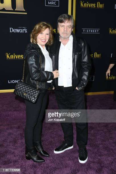"Mark Hamill and Marilou York attends the premiere of Lionsgate's ""Knives Out"" at Regency Village Theatre on November 14, 2019 in Westwood, California."