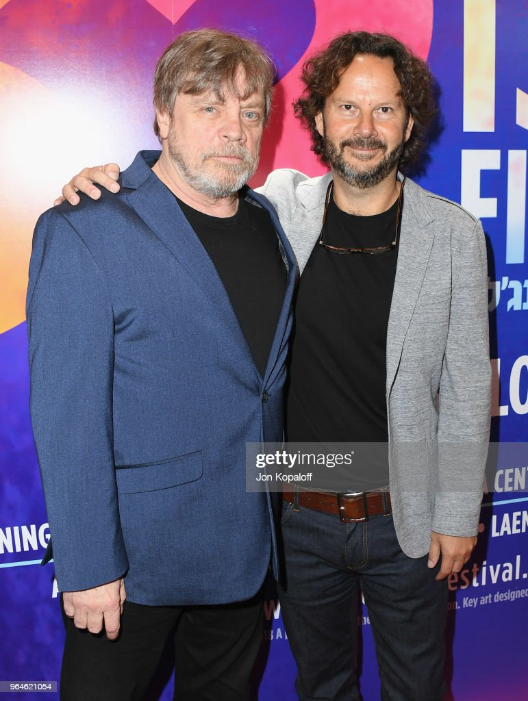Mark Hamill and Ram Bergman attend the 32nd Israel Film Festival In Los Angeles Sponsor Luncheon at Four Seasons Hotel Los Angeles at Beverly Hills on May 31, 2018 in Los Angeles, California.