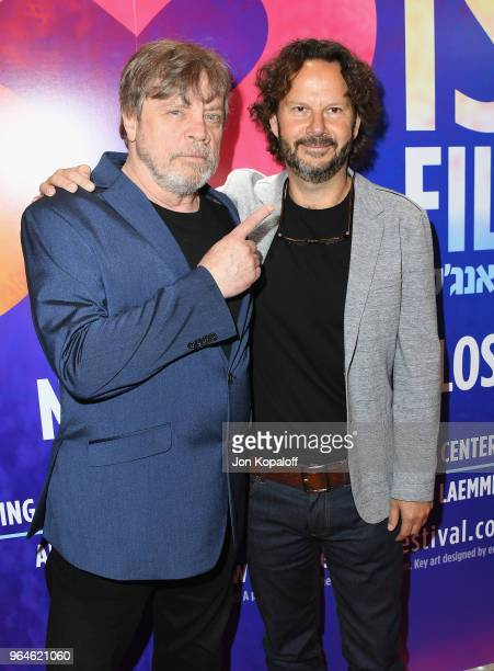 Mark Hamill and Ram Bergman attend the 32nd Israel Film Festival In Los Angeles Sponsor Luncheon at Four Seasons Hotel Los Angeles at Beverly Hills...