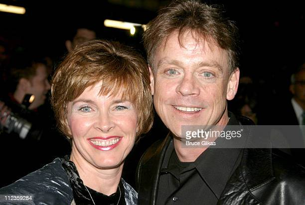 """Mark Hamill and wife Marilou during Opening Night of """"Wicked"""" on Broadway at The Gershwin Theater and Tavern on The Green in New York City, New York,..."""