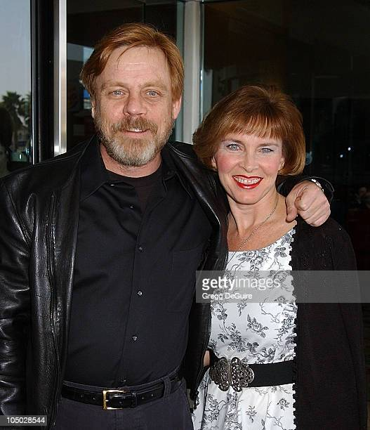 Mark Hamill and wife Marilou during The 2003 National Cable Telecommunications Assn Press Tour Day One at Renaissance Hotel in Hollywood California...