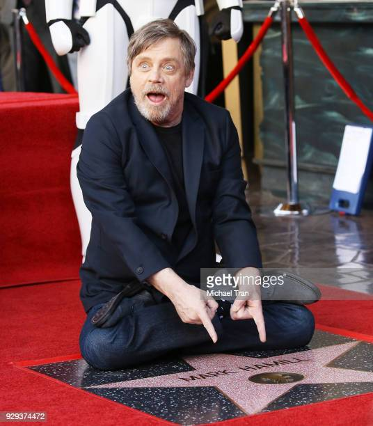 Mark Hamill attends the ceremony honoring him with A Star on The Hollywood Walk of Fame held in front of El Capitan Theatre on March 8 2018 in...