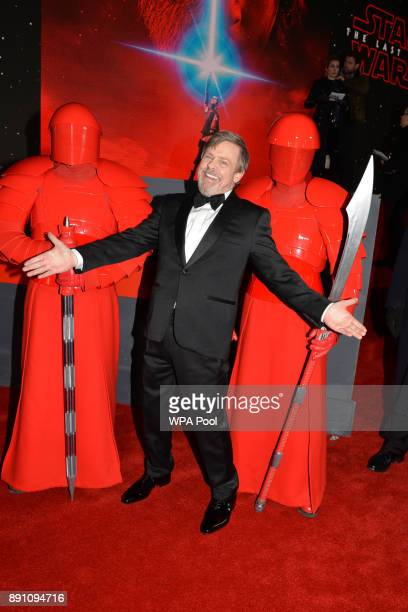 Mark Hamill attends the European Premiere of 'Star Wars The Last Jedi' at Royal Albert Hall on December 12 2017 in London England