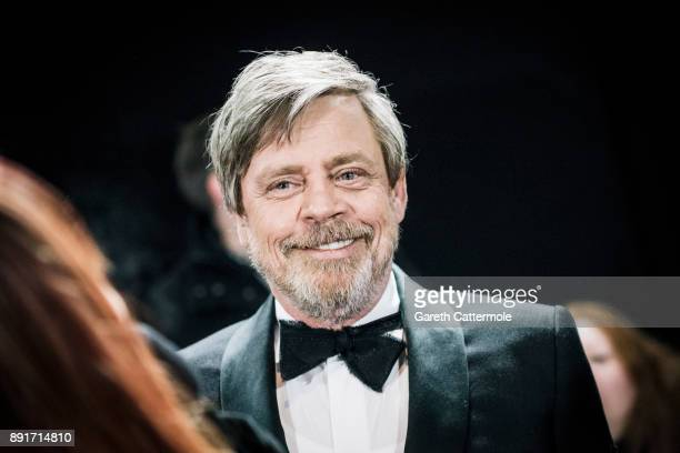 Mark Hamill attends the European Premiere of Star Wars The Last Jedi at the Royal Albert Hall on December 12 2017 in London England
