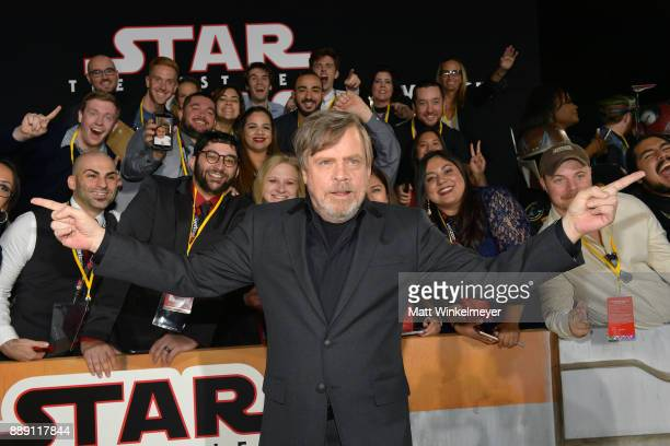Mark Hamill attends the premiere of Disney Pictures and Lucasfilm's 'Star Wars The Last Jedi' at The Shrine Auditorium on December 9 2017 in Los...
