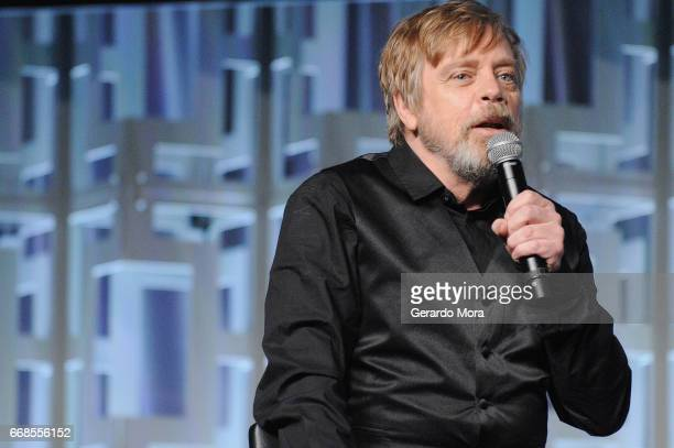 Mark Hamill attends the Star Wars The Last Jedi panel during the 2017 Star Wars Celebration at Orange County Convention Center on April 14 2017 in...