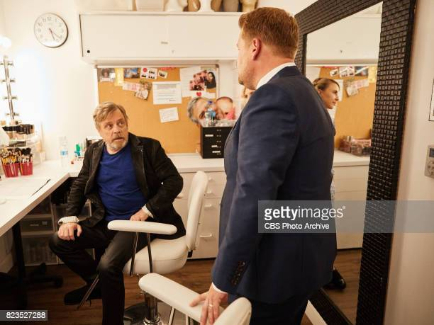 """Mark Hamill chats in the green room with James Corden during """"The Late Late Show with James Corden,"""" Monday, July 24, 2017 On The CBS Television..."""